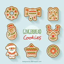 collection of beautiful and delicious christmas cookies vector