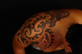 maori polynesian tattoo maori octopus design shoulder tattoo