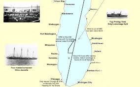 Kenosha Wisconsin Map by L R Doty Shipwreck Discovery