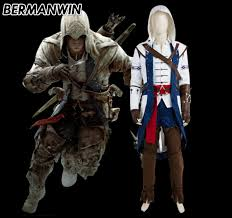 Connor Halloween Costume Quality Assassin Costume Men Buy Cheap Assassin Costume Men