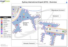 airport maps charts diagrams sydney kingsford smith