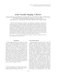 avian vascular imaging a review