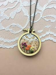 vintage lace necklace images Floral mini hoop necklace vintage lace necklace hand embroidered jpg