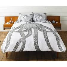 Duvet Dictionary Bold Graphic Of A Octopus In True Thomas Paul Style Duvet With