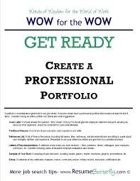 professional portfolio cover template inside job portfolio