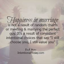 quotes happiness in marriage is a result of deciding to