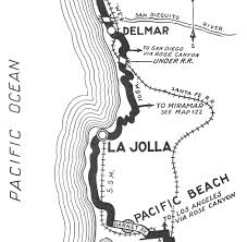 La Jolla Map Ecr U2014 La Jolla To Del Mar
