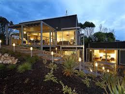 modern house plans on hillside
