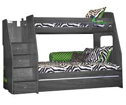 Berg Enterprise Twin Over Twin Bunk Bed With Staircase Bedroom - Full and twin bunk bed