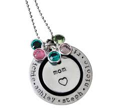 Necklaces With Children S Names Mom Birthstone Necklace With Children U0027s Names