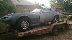 corvette project for sale 68 corvette project car original 390hp 427 4 speed coupe for sale