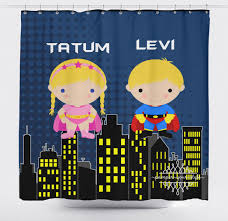 Super Hero Bathroom Set Cool Superhero Shower Curtain Baby Bathroom Decor Childrens Design