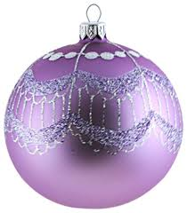 large purple ornament with silver tassels contemporary
