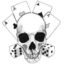 tattoo 2 skull with aces and dices by yami19 on deviantart