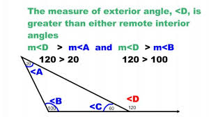 Interior Exterior Angles Remote And Exterior Angles Of A Triangle