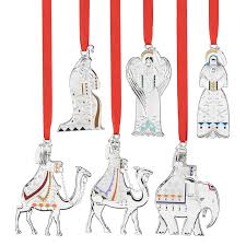 christmas ornament sets christmas nativity set ornament collection reed and barton