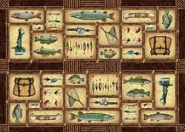 Fish Area Rug Large Fish Area Rug Lake Cabin Decor Northern Creek