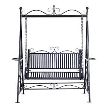charlton home kerry 2 person outdoor metal porch swing with stand
