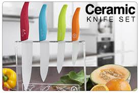 coloured kitchen knives set scoopon just 45 for a 4 ceramic knife set colour coded