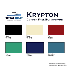 totalboat krypton boat bottom paint copper free antifouling