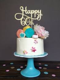 happy 60th birthday cake topper personalized with name and age