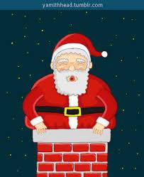 animated santa merry christmas animation gif find on giphy