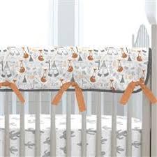 fox orange heather crib sheet carousel designs
