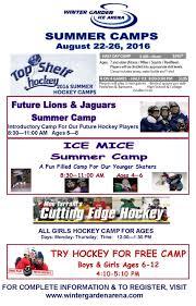 aug 22 winter garden ice arena summer hockey camps ridgefield