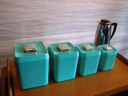 Turquoise Kitchen Decor by Charming Contemporary Canister Sets Kitchen With To Decor Gallery