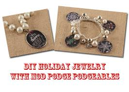diy bracelet with charm images Diy christmas necklace and charm bracelet with mod podge jpg