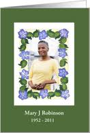 memorial service invitations from greeting card universe