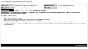 Conference Coordinator Resume Reservation Coordinator Cover Letter U0026 Resume