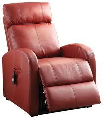 acme furniture acme ricardo recliner with power lift dark gray