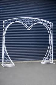 wedding arches nz wedding arch heart shape white