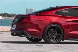 Satin Black Mustang Ruby Red Mustang Gt Velgen Wheels Classic5 Satin Black 20x9