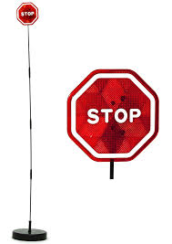 stop sign with led lights parkez flashing led light parking stop sign for garage
