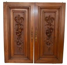 Salvaged Wood by French Antique Louis Xvi Pair Of Carved Salvaged Wood Door Panel