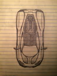 supercar drawing top view supercar drawing