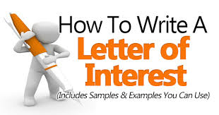 Good Interests To Put On Resume How To Write A Letter Of Interest Sample Included