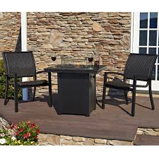 telescope casual kendall wicker fire table dining set tc