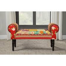 multi colored bedroom benches bedroom furniture the home depot