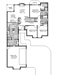Mediterranean Style Floor Plans Mediterranean Style House Plan 3 Beds 2 Baths 1416 Sq Ft Plan