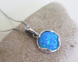 opal necklace setting images Blue opal necklace etsy jpg