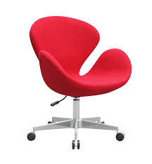 red fabric swan chair with casters fmi9259 red fine mod imports