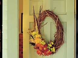 thanksgiving door wreaths and centerpieces southern living