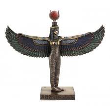 egyptian goddess isis standing with outstretched wings 8 5 inch