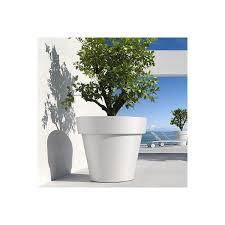 vaso resina bianco vaso mod ikon mis 60 collezione khilia articoli per giardinaggio