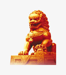 gold lion statue golden lion like gold lion statue png image for free