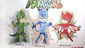 video cartoon series disney jr u0027s pj masks lapse drawing