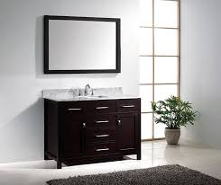 Modern Single Sink Bathroom Vanities by Virtu Usa Ms 2048 Wmsq Es Caroline 48 Inch Bathroom Vanity With